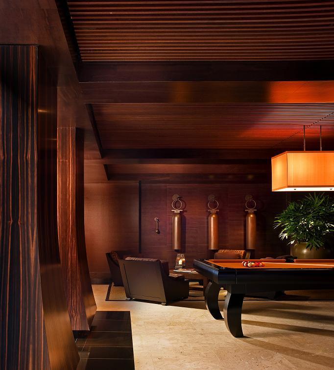 Macassar Ebony Flared Columns In The Billiard Room
