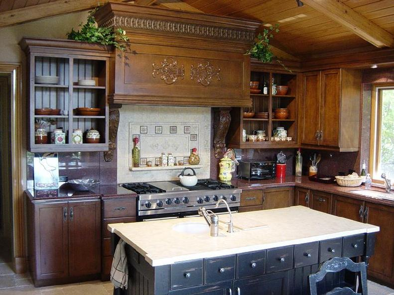 wood cabinet - kitchen cabinets
